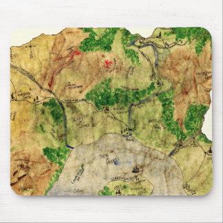 5to Mapa del reino olvidado Alfombrillas De Ratón