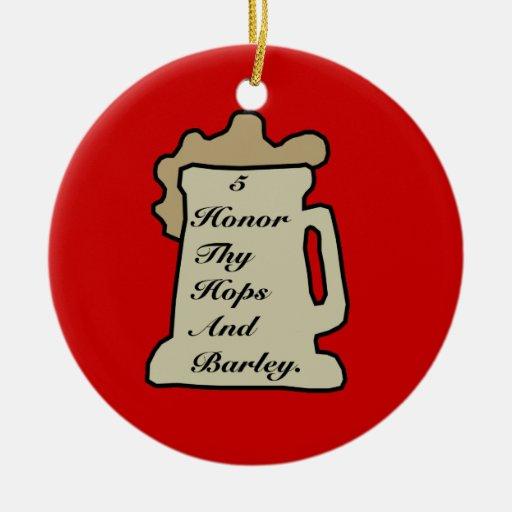5to Ornamento del mandamiento de la cerveza Ornamento Para Reyes Magos