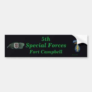 5to parachoque de Fort Campbell Iraq del grupo de  Etiqueta De Parachoque