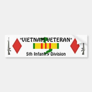 5to Pegatina para el parachoques de la división de Etiqueta De Parachoque