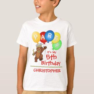 5to personalizado de la fiesta de cumpleaños del polera