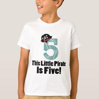 5to pirata lindo del cumpleaños playera