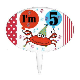 5to primero de la torta de cumpleaños del cangrejo decoraciones para tartas