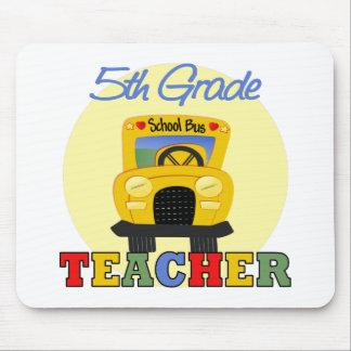 5to Profesor del grado, autobús Mouse Pad