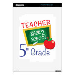 5to Profesor del grado Calcomanía Para iPad 2