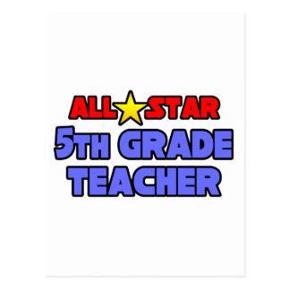 5to profesor del grado de All Star Postales