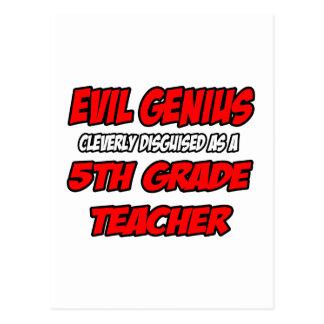 5to profesor malvado del grado del genio… postal