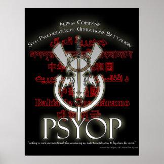 5to PSYOP poster de los BN de Alpha Company Póster