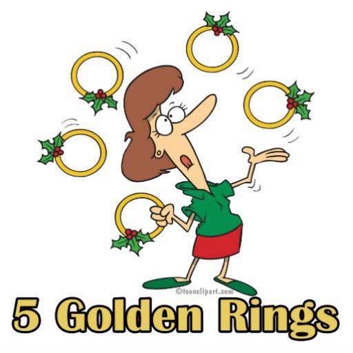 5to quinto día de oro de cinco anillos de oro de n llavero fotográfico