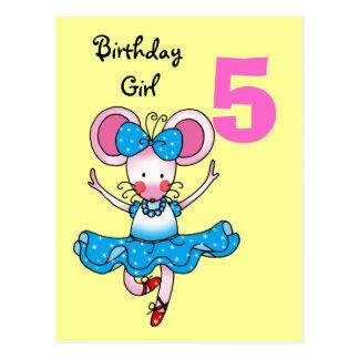 5to regalo de cumpleaños para un chica bailarina tarjeta postal