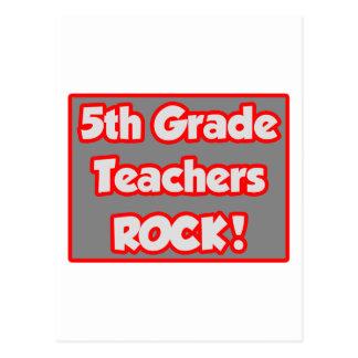 5to ¡Roca de los profesores del grado! Tarjetas Postales