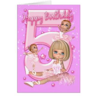 5to Tarjeta de cumpleaños con la bailarina linda