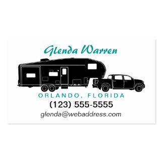 5to Tarjeta de visita de la silueta del transporti