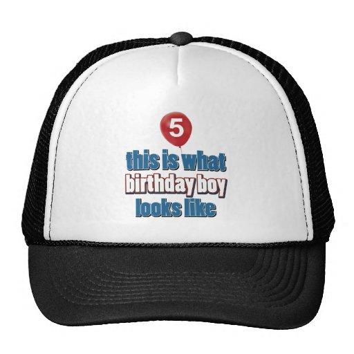 5tos diseños del cumpleaños del año gorra