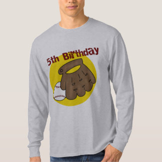 5tos regalos de cumpleaños del béisbol remera