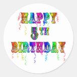 5tos regalos de cumpleaños felices - fuente del etiquetas redondas