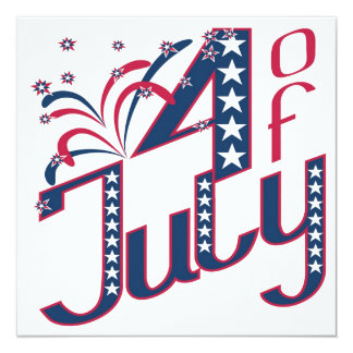 5x5 4th of July Party Invitation