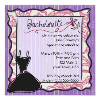 5x5 Bachelorette Party Invitation