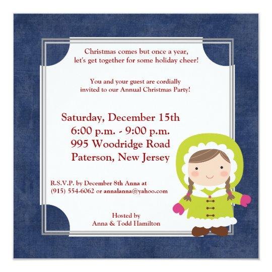 5x5 Christmas Kids Invitation