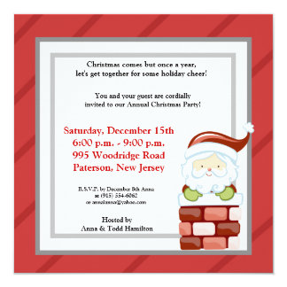 5x5 Coming Down the Chimney Invitation