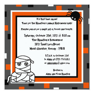 5x5 Cute Creatures Halloween Party Invitation