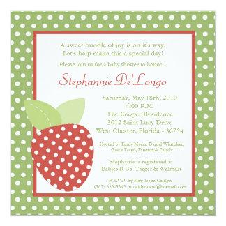 5x5 Farm Strawberry Fruit Baby Shower Invitation