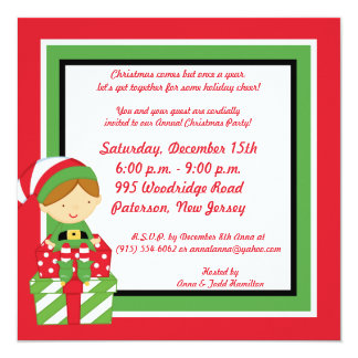5x5 Mr. & Mrs. Claus Christmas Party Invitation
