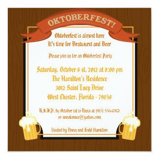 "5x5 Oktoberfest Invitation 5.25"" Square Invitation Card"