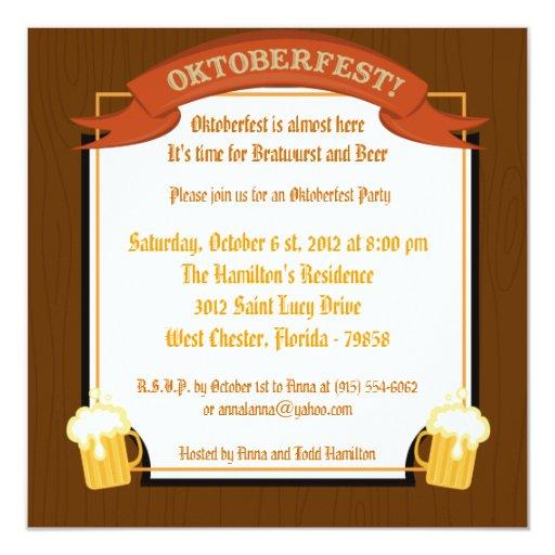 5x5 Oktoberfest Invitation