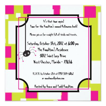 Halloween Themed 5x5 Witchy Ways Halloween Party Invitation
