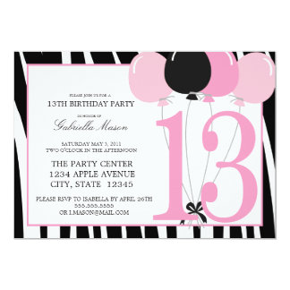 13th birthday invitation templates
