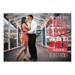 5x7 1 Photo Peace, Love & Joy Photo Card Custom Invitations