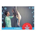 5x7 1 Photo Snowflake Photo Card Custom Announcement