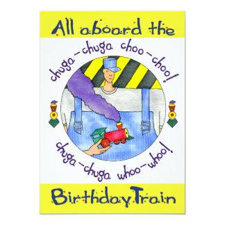 5x7 All aboard the Birthday Train Invitation