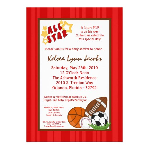 All Star Baby Shower Invitations is the best ideas you have to choose for invitation example