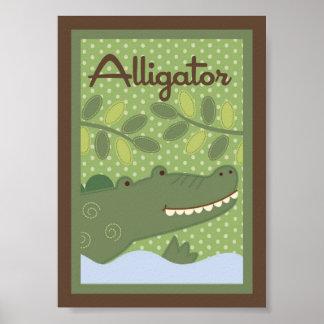 """5x7 """"Alligato"""" Jungle Safari Baby Bedding Wall Art Poster"""
