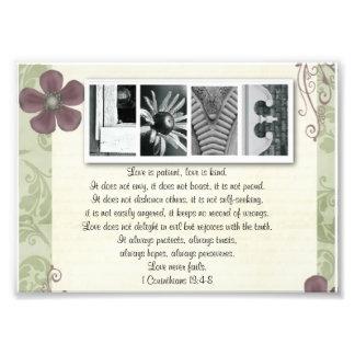 5x7 Alphabet Letter Photo Love is Patient Print