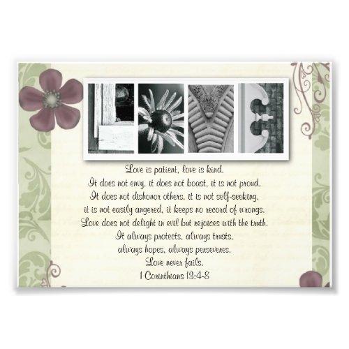 5x7 Alphabet Letter Photo Love is Patient Print photoenlargement