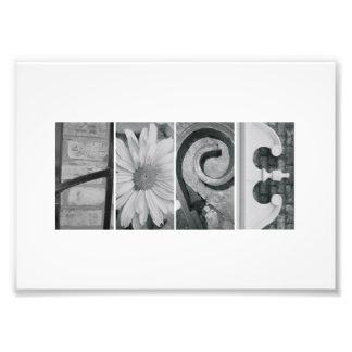 5x7 Alphabet Letter Photography Hope Print