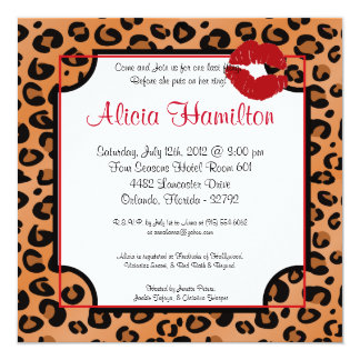 5x7 Animal Print Bachelorette Invitation