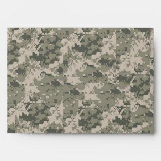 5x7 ARMY ACU Camo Outside Gray Inside Envelope