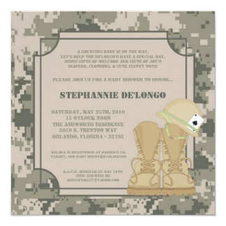 5x7 ARMY ACU Camoflauge Baby Shower Invitation