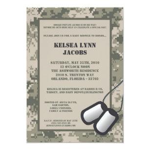 Army baby invitations zazzle 5x7 army camo acu print baby shower invitation filmwisefo
