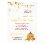 5x7 Autumn Fall Leaves Baby Shower Invitation Announcements