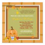 "5x7 Autumn Fall Pumpkin Baby Shower Invitation 5.25"" Square Invitation Card"