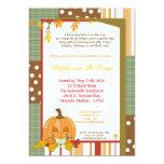 "5x7 Autumn Fall Pumpkin Baby Shower Invitation 5"" X 7"" Invitation Card"