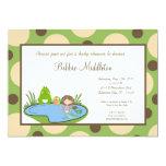 5x7 Baby Frog Pond Mermaid Baby Shower Invitation