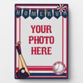5x7 Baseball Card Frame-Home run-Marry Me Plaque