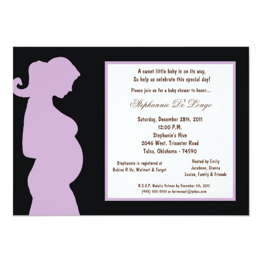 5x7 Black Baby Shower Card