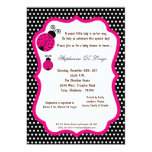 5x7 Black Lady Bug Baby Shower Invitation